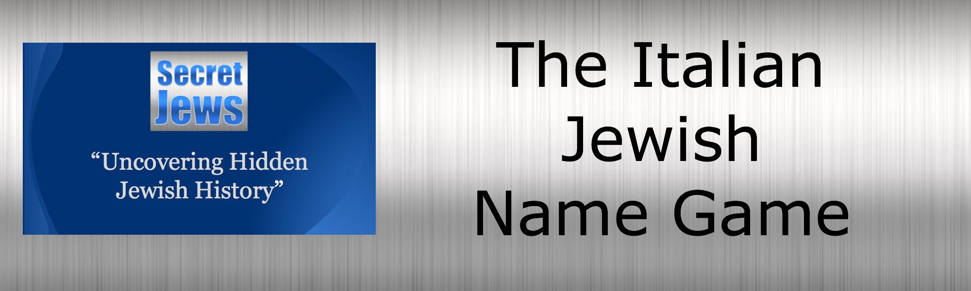 secret jews italian jewish name